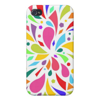 Colorful Shape Burst Cover For iPhone 4