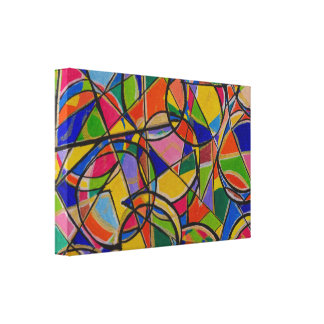 Colorful Shapes Abstract Art Canvas Print