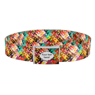 Colorful shapes abstract design belt