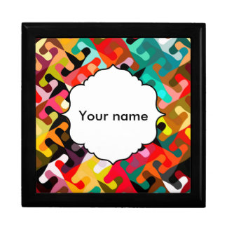 Colorful shapes abstract design gift box