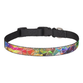 colorful shapes dog collar