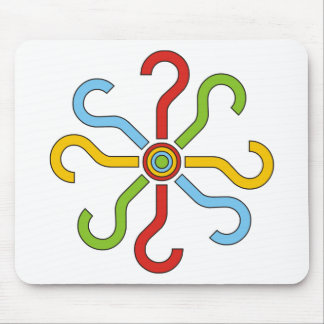 colorful shapes mousepads
