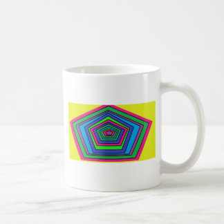 colorful shapes coffee mugs