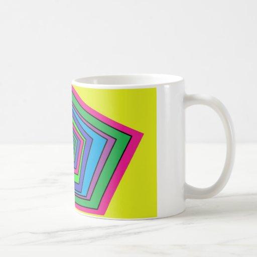 colorful shapes coffee mug