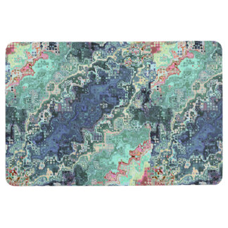 Colorful Shapes Pattern Floor Mat