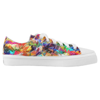 colorful shapes shoes printed shoes