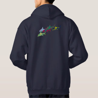 colorful sharks hoodie