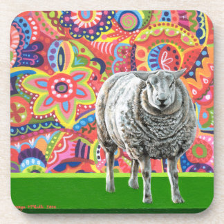 Colorful Sheep Art Coasters - Set of 6