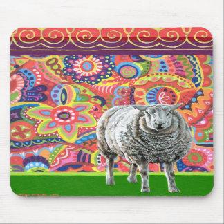 Colorful Sheep Art Mousepad