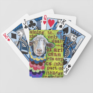 Colorful Sheep Art Playing Cards