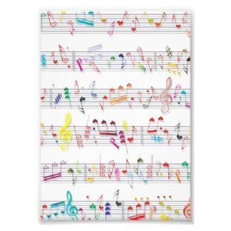 Colorful Sheet Music Notes Photo Print