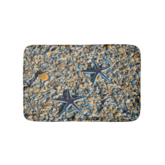 Colorful Shells And Stars Of The Tropics Bath Mat