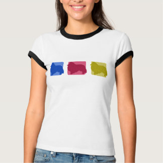 Colorful Sheltie Silhouettes T-Shirt