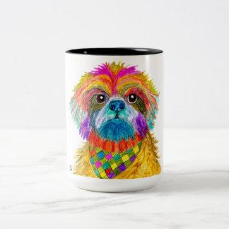 Colorful Shih Tzu 15 oz Mug