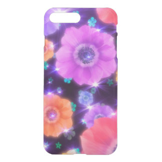 colorful shining flowers vector art iPhone 7 plus case