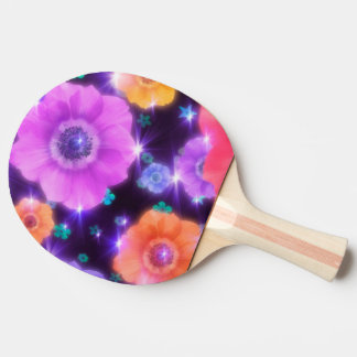 colorful shining flowers vector art ping pong paddle
