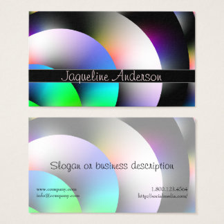 Colorful Shiny Discs Business Card