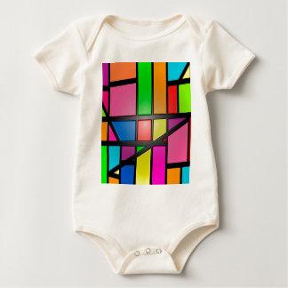 Colorful shiny Tiles Baby Bodysuit