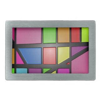 Colorful shiny Tiles Belt Buckle