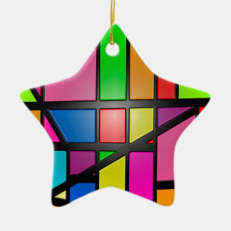 Colorful shiny Tiles Ceramic Ornament