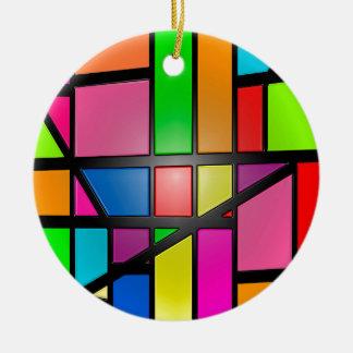 Colorful shiny Tiles Ceramic Ornament