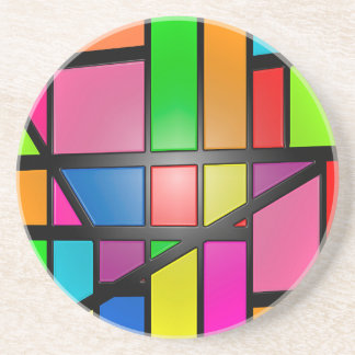 Colorful shiny Tiles Coaster