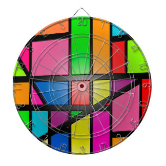 Colorful shiny Tiles Dartboard
