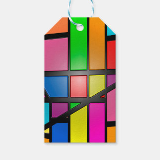Colorful shiny Tiles Gift Tags
