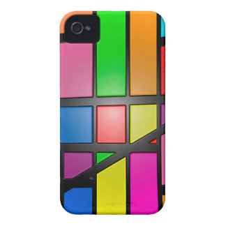 Colorful shiny Tiles iPhone 4 Cover