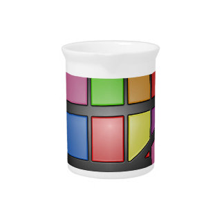 Colorful shiny Tiles Pitcher