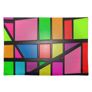 Colorful shiny Tiles Placemat
