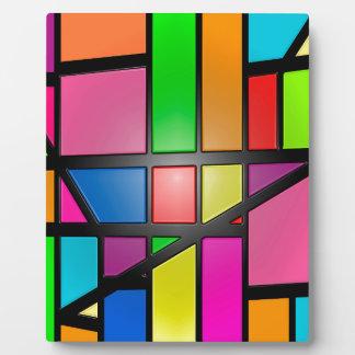 Colorful shiny Tiles Plaque