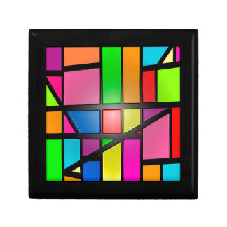 Colorful shiny Tiles Small Square Gift Box