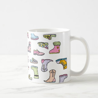 colorful shoes pattern coffee mug