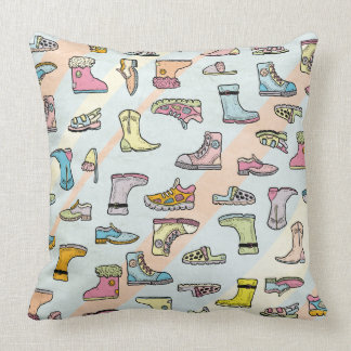 colorful shoes patterns pillow