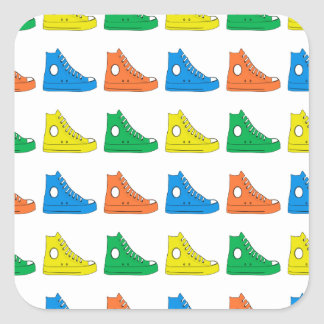 Colorful Shoes Square Sticker