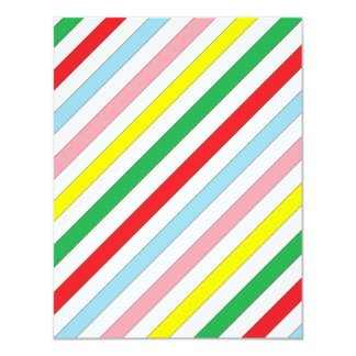 Colorful Sideway Lines 11 Cm X 14 Cm Invitation Card
