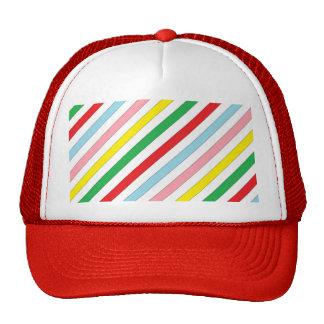 Colorful Sideway Lines Cap