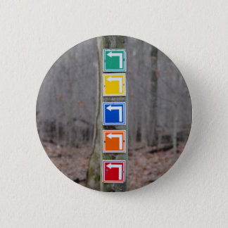 Colorful Sign in the Woods 6 Cm Round Badge