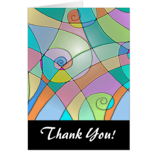 Colorful Simulated Stained Glass in Pastels Note Card
