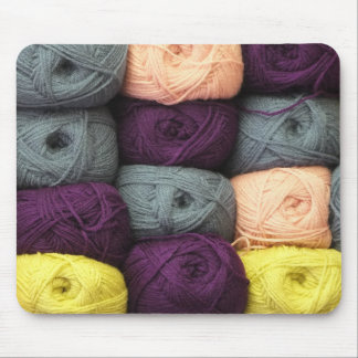Colorful Skeins of Yarn Mouse Pad