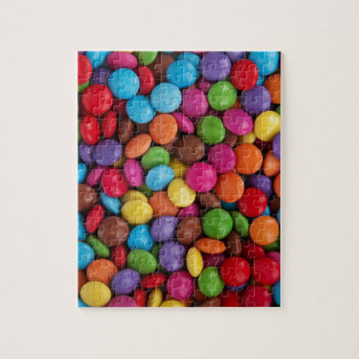 Colorful skittles candy jigsaw puzzle