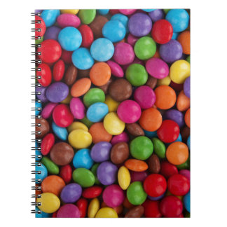 Colorful skittles candy notebook
