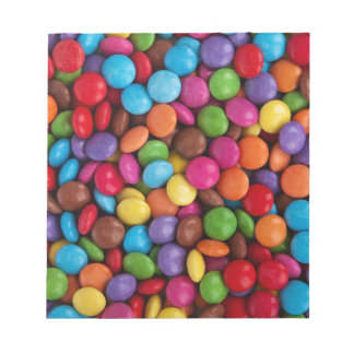 Colorful skittles candy notepad