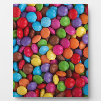 Colorful skittles candy plaque