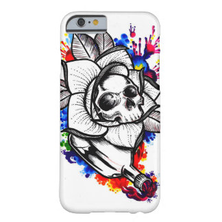 Colorful Skull and Rose - Iphone 6/6s Case