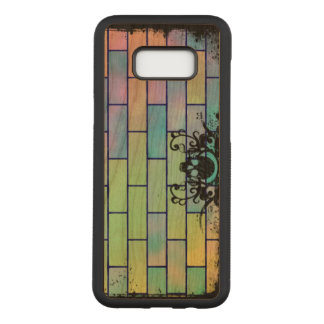 Colorful Skull Bricks Carved Samsung Galaxy S8+ Case