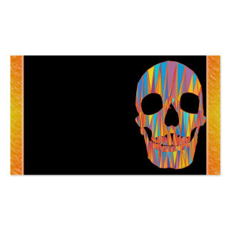 Colorful Skull Business Card