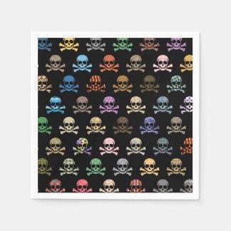 Colorful Skull & Crossbones Paper Napkin
