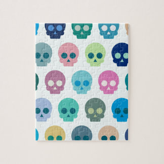 Colorful Skull Cute Pattern Puzzle
